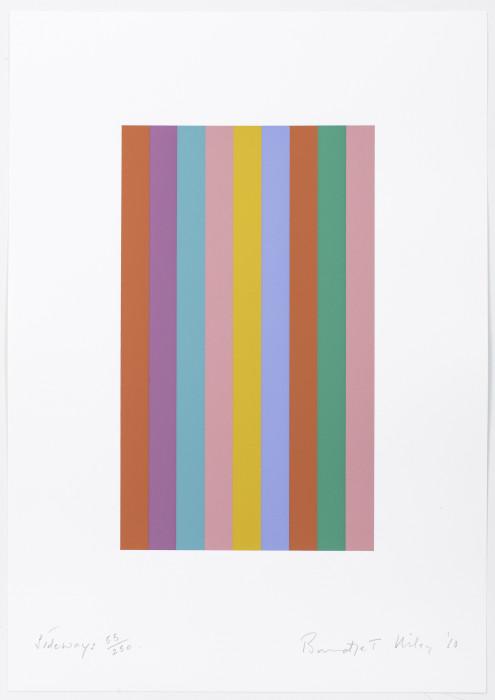 Riley, Sideways, 2010, screenprint, edition of 250, 18 1-8 × 12 3-4 in., 46 x 32.5 cm