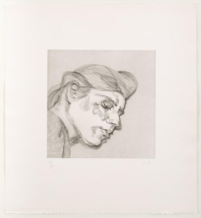Freud, IB, 1984, etching, edition of 50, 22 3-8 x 20 7-8 in., 51.8 x 54 cm