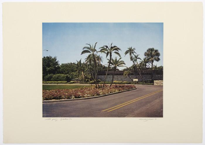 Jones, Florida Suite, Garden (B), 1968, lithograph, edition of 25, 17 3-4 x 25 in., 45 x 63.5 cm