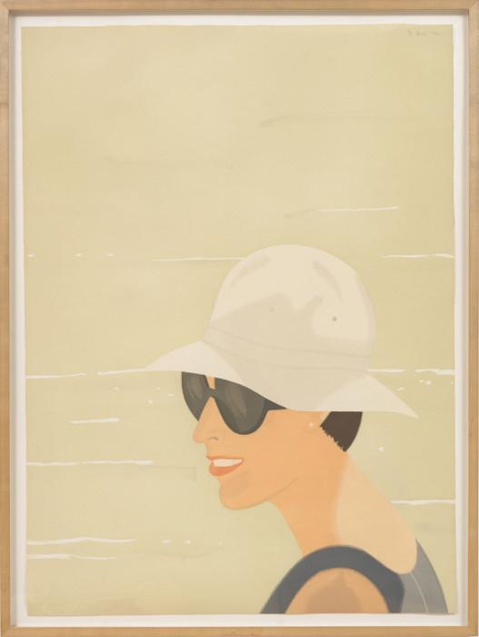 Katz, Margit Smiles, 1994, color aquatint, edition of 40, 47 1-2 x 34 1-2 in., 120.7 x 87.6 cm