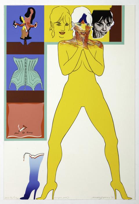 Jones, Pour les Levres, 1965, screenprint, edition of 200, 30 3-8 x 20 3-8 in., 77 x 51.8 cm