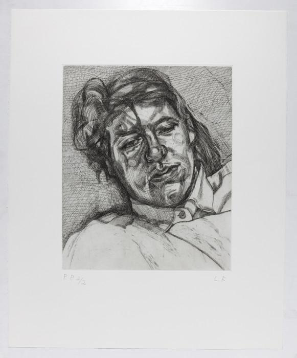 Freud, Bella, 1987, etching, edition of 50, 27 1-4 x 22 1-2 in. 69.3 x 57 cm