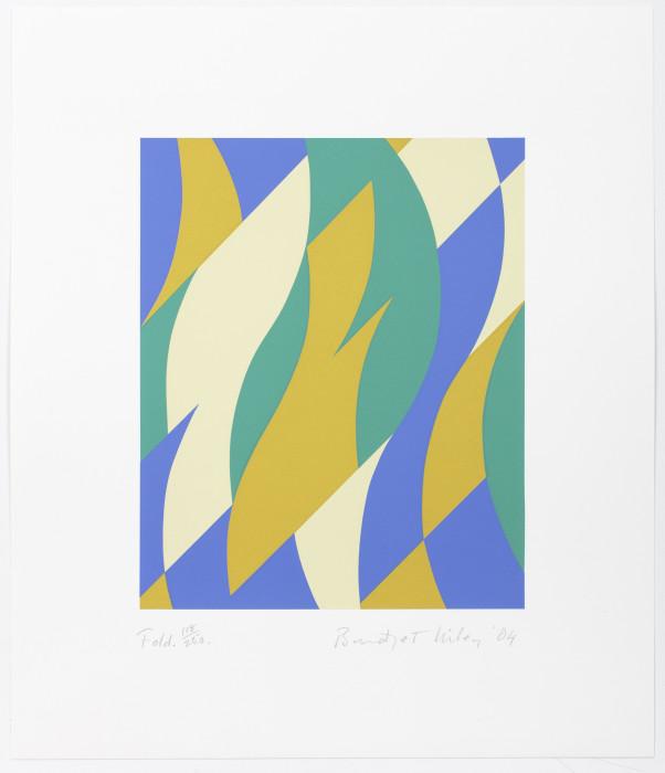 Riley, Fold, 2004, screenprint, edition of 250, 17 1-2 x 15 in., 44.5 x 38.1 cm