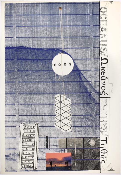 Joe Tilson, Oceanus Tethys, 1973, screenprint and collage, edition of 70, 40 3-16 x 27 3-16 in., 102 x 69 cm