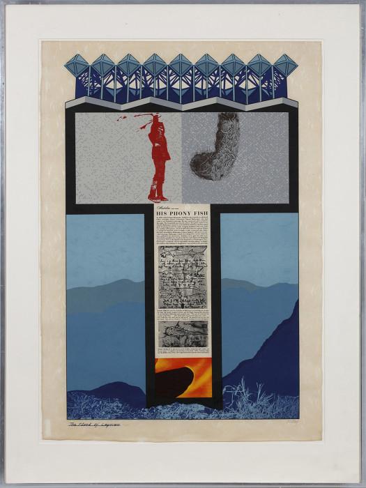 Kitaj, The Flood of Laymen, 1964, colour screenprint, photoscreenprint, edition of 70,