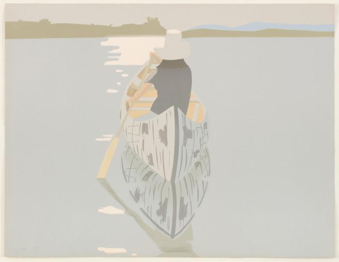 Katz, Rowboat, 1992, color aquatint, edition of 50, 33 x 42 3-4 in., 83.8 x 108.6 cm