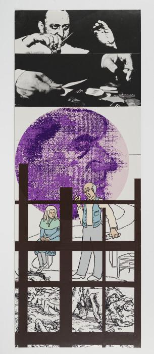 Kitaj, Bacon II, 1969, screenprint, edition of 70, 40 x 14 3-4 in., 101.5 x 37.5 cm