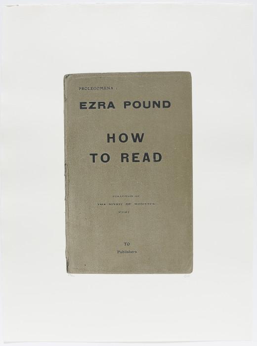 Kitaj, How to Read, 1969-70, screenprint, edition of 150, 30 3-8 x 22 5-8 in., 77 x 57.5 cm